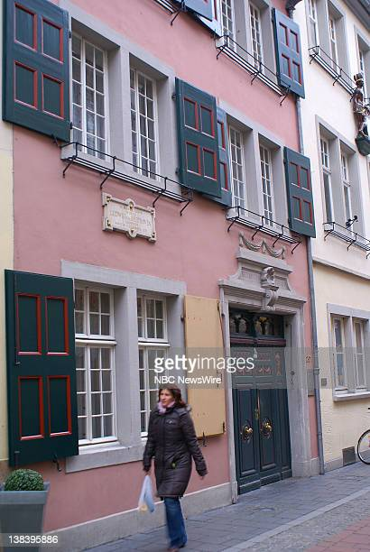 NBC NEWS Scenics of Germany Pictured Birth house of Beethoven Scenes from the the former German capital of Bonn birthplace of Ludwig van Beethoven...