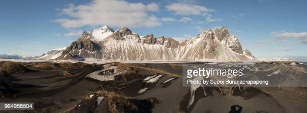scenics view at vestrahorn famous moutains for tourist at stokksnes peninsula,iceland - selfoss stock photos and pictures