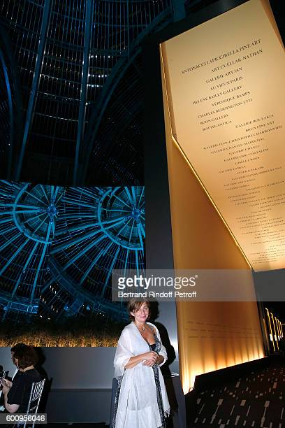 Scenographiste of the Event Nathalie Criniere attends the 28th Biennale des Antiquaires PreOpening at Grand Palais on September 8 2016 in Paris France