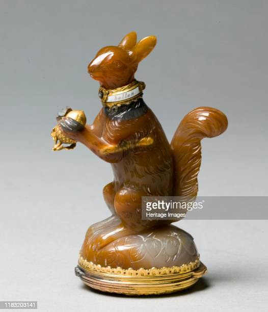 Scent Bottle and Box in the form of a Squirrel circa 1760 Creator James Cox attributed to
