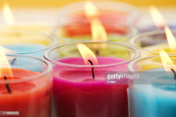 scented candles - candle stock pictures, royalty-free photos & images