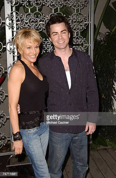 """Schae Harrison and Mick Cain of """"Bold and the Beautiful"""" at the White Lotus in Hollywood, California"""