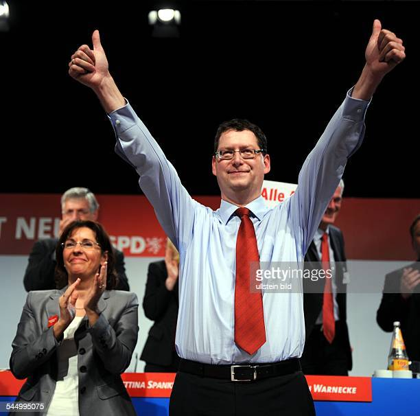 SchaeferGuembel Thorsten Politician Germany at the extraordinary party congress of the SPD Hesse in Alsfeld