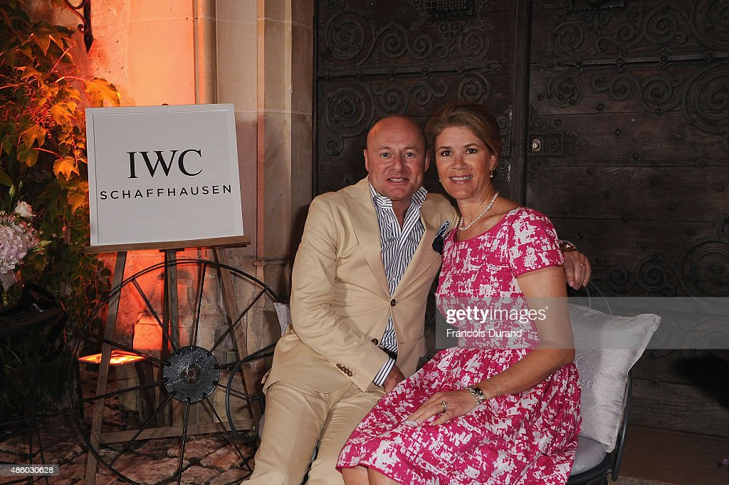 Schaffhausen CEO Georges Kern and his wife Monika Kern attend the closing dinner hosted by IWC during theFestival du Film Francophone d'Angouleme on August 30, in Angouleme, France.