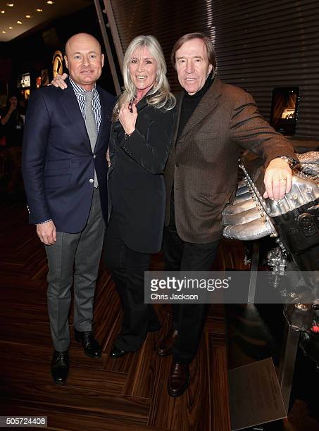 Schaffhausen CEO Georges Kern Elvira Lang Netzer and Gunter Netzer visit the IWC booth during the launch of the Pilot's Watches Novelties from the...
