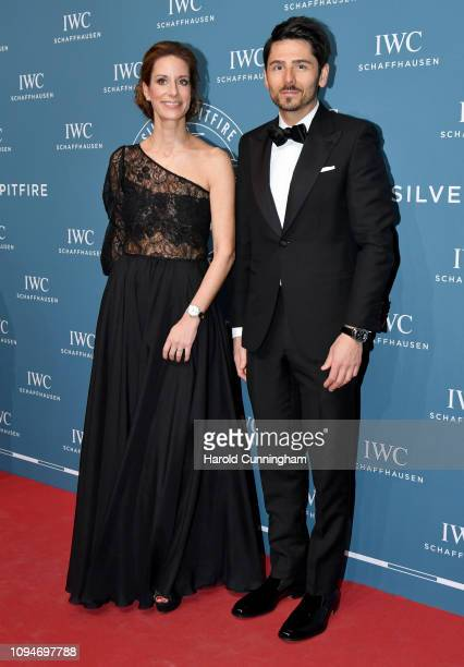 Schaffhausen CMO Franziska Gsell and Nenad Mlinarevic attend the IWC Schaffhausen Gala celebrating the launch of the new Pilot's Watches and the...