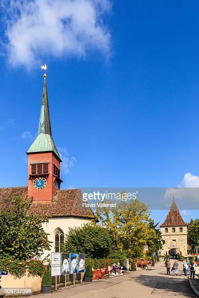 schaffhausen-evangelisch-reformierten kirche, suíça - kirche - fotografias e filmes do acervo