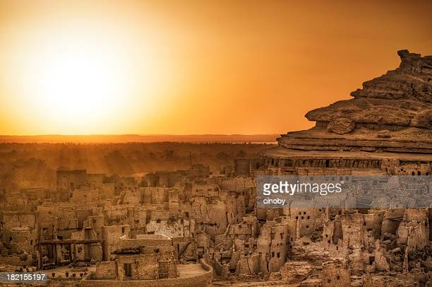 schali ( shali ) the old town of siwa - egypt stock pictures, royalty-free photos & images