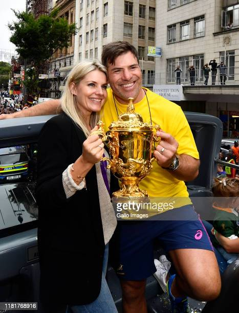 Schalk Brits during the South African Springboks Rugby World Cup 2019 Champions Tour on November 11, 2019 in Cape Town, South Africa.