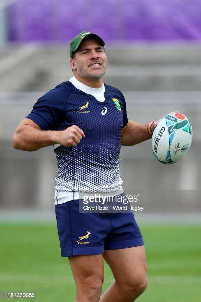 Schalk Brits of South Africa looks on during a South Africa training session at Fuchu Asahi Football Park on October 16, 2019 in Fuchu, Tokyo, Japan.