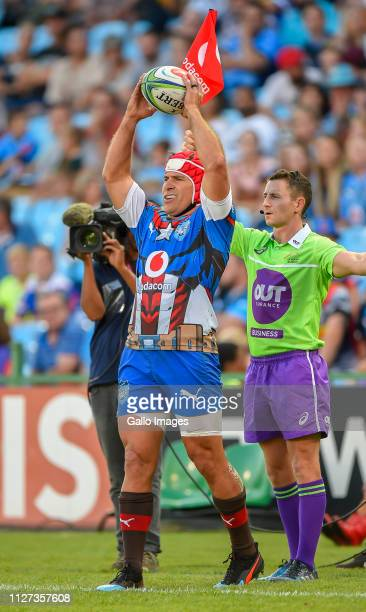 Schalk Brits of the Vodacom Bulls during the Super Rugby match between Vodacom Bulls and DHL Stormers at Loftus Versfeld on February 16 2019 in...
