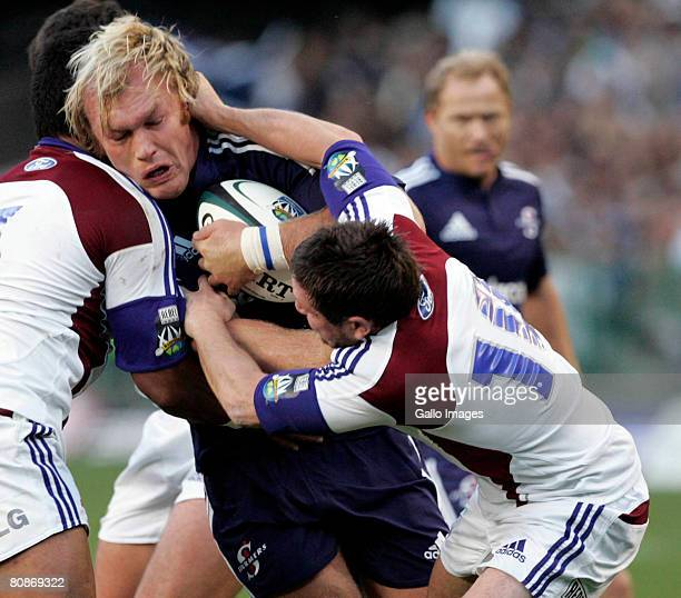 Schalk Burger of Stormers during the round 11 Super 14 match between the Stormers and Highlanders at Newlands on April 26 2008 in Cape Town South...