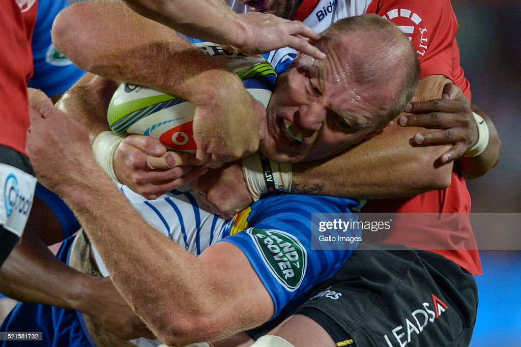 Schalk Burger of the Stormers in action during the 2016 Super Rugby match between Emirates Lions and DHL Stormers at Emirates Airline Park on April 16, 2016 in Johannesburg, South Africa.
