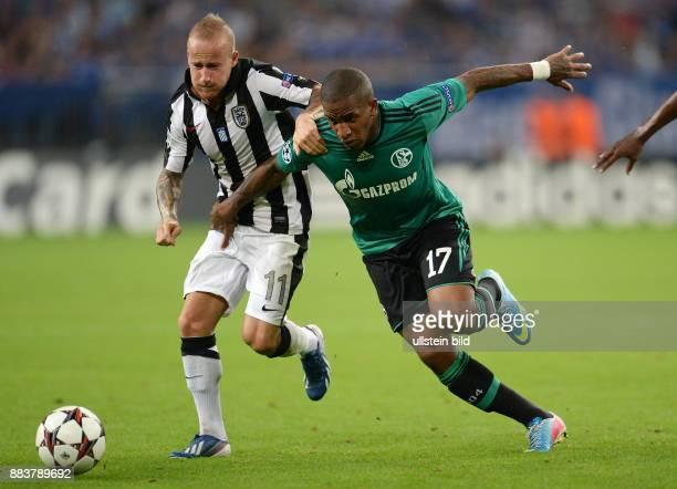 FUSSBALL CHAMPIONS FC Schalke 04 Paok Saloniki Miroslav Stoch gegen Jefferson Farfan