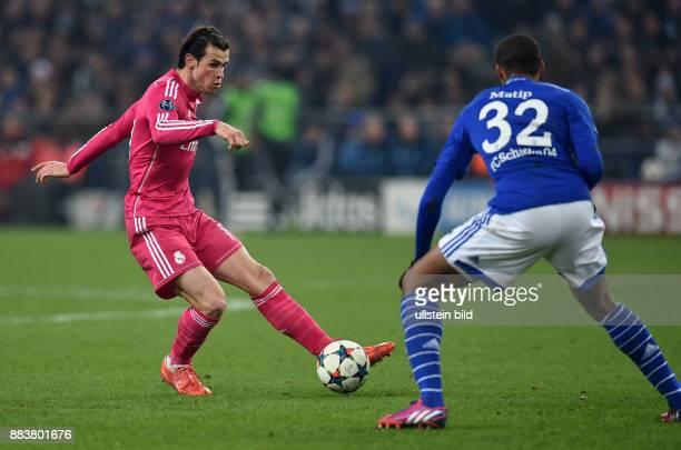 FUSSBALL CHAMPIONS FC Schalke 04 Real Madrid Gareth Bale gegen Joel Matip