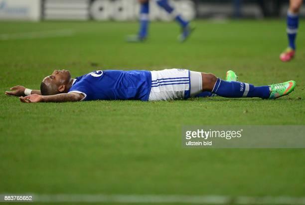 FUSSBALL CHAMPIONS FC Schalke 04 Real Madrid Jefferson Farfan liegt enttaeuscht am Boden