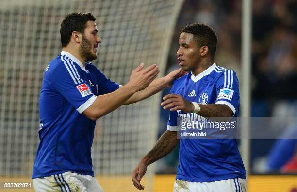 FUSSBALL 1 BUNDESLIGA SAISON FC Schalke 04 SC Freiburg 0 Sead Kolasinac und Jefferson Farfan