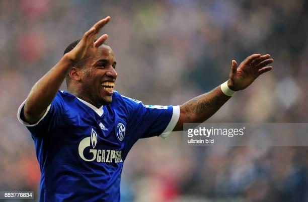 FUSSBALL 1 BUNDESLIGA SAISON FC Schalke 04 TSG 1899 Hoffenheim Jefferson Farfan jubelt nach dem 30