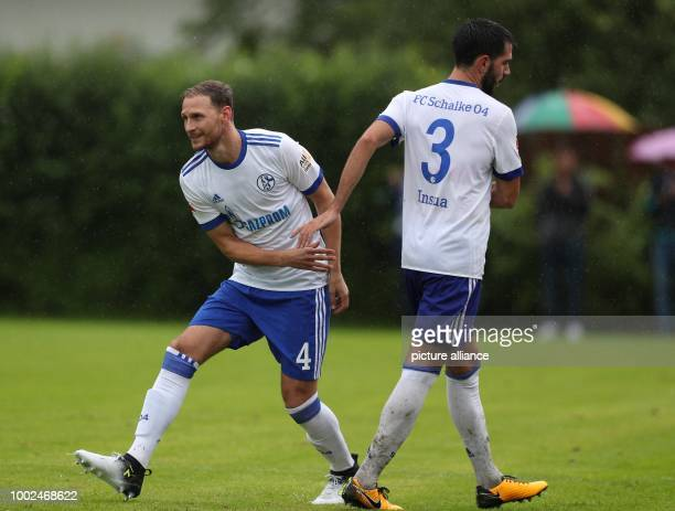 Schalke's Benedikt Höwedes is substituted for Pablo Insua during the international soccer friendly between FC Schalke 04 and Neftchi Baku in...