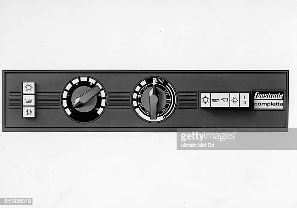 Schaltleiste der Waschmaschine Constructa Completta 1965
