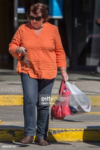 Schapelle Corby's mother Rosleigh Rose leaves the Beenleigh Marketplace in Beenleigh after doing some shopping south of Brisbane on May 29 2017 in...