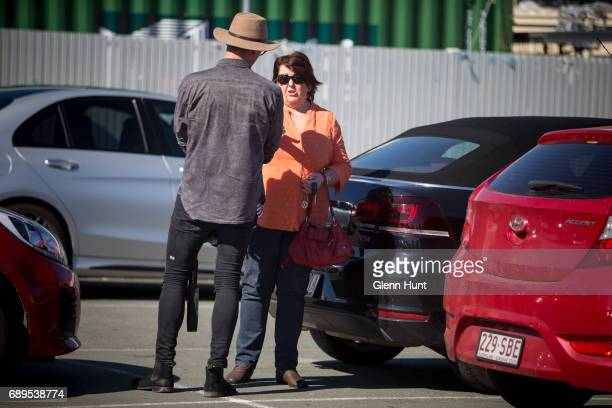 Schapelle Corby's mother Rosleigh Rose leaves the Waterford Plaza and is accosted by a paparazzi photographer south of Brisbane on May 29 2017 in...