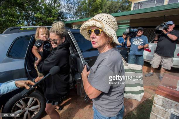 Schappelle Corby's aunty Jen arrives at Schappelle Corby's mother's house in Loganlea on May 28 2017 in Brisbane Australia Schapelle Corby was...