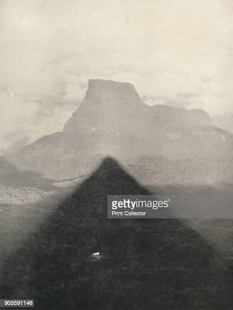'Schatten des Adamspik bei Sonnenaufgang' 1926 A scene near Adam's Peak Sri Lanka From Der Indische Kulturkreis in Einzeldarstellungen [Georg Muller...