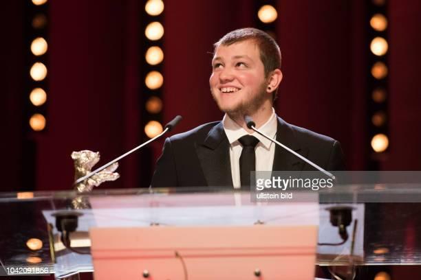 Schauspieler Anthony Bajon mit dem Silbernen Bären als Bester Darsteller der Jury anlässlich der Preisverleihung 68 Internationalen Filmfestspiele...