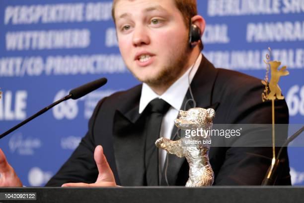 Schauspieler Anthony Bajon mit dem Silbernen Bären für den Besten Darsteller anlässlich der Preisverleihung der 68 Internationalen Filmfestspiele...