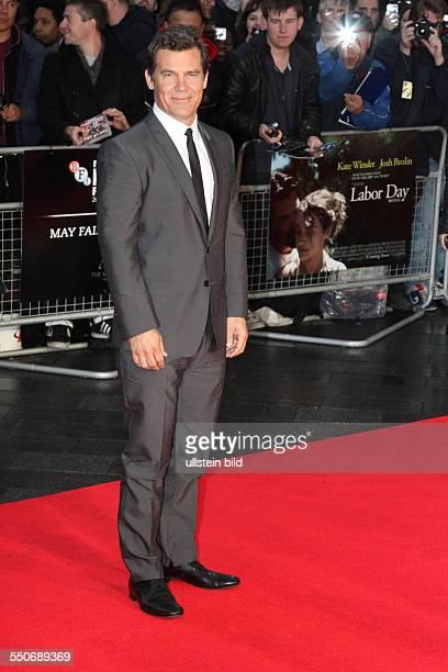 Schauspieler Josh Brolin anlässlich der Premiere des Films Labor Day im Odeon Leicester Square während des 57 BFI London Film Festivals