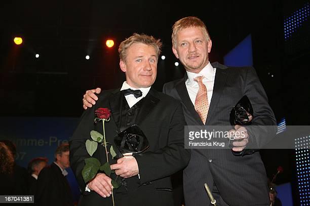 Schauspieler Jörg Schüttauf Und Regisseur Sönke Wortmann Bei Der 43 Verleihung Des Adolf Grimme Preis Im Theater In Marl Am 300307