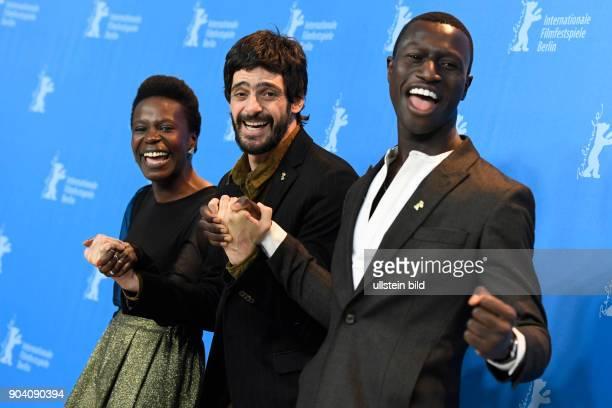 Schauspieler Julio Machado Schauspielerin Isabel Zuaa und Schauspieler Welket Bungue während des Photocalls zum Film JOAQUIM anlässlich der 67...