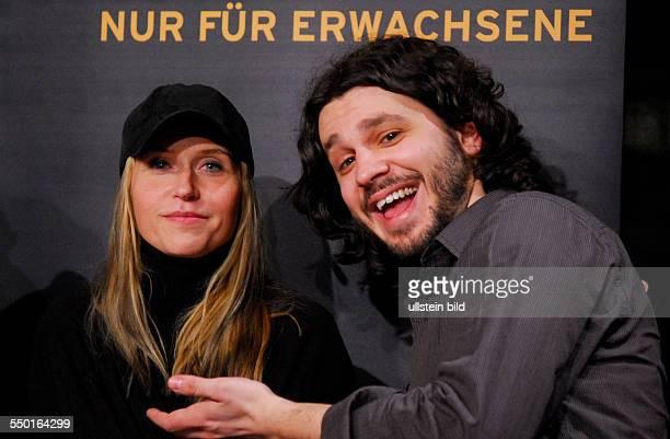 Schauspielerin Anica Dobra und Regisseur Stefan Arsenijevic anlässlich des RadioEins Nighttalk am Rande der 58 Berlinale in Berlin