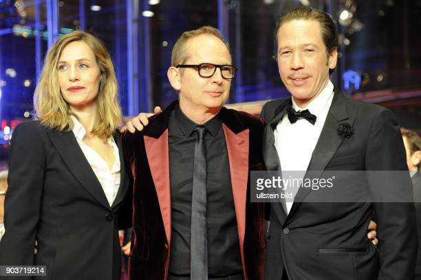 Schauspielerin Cecile de France Regisseur Etienne Comar und Schauspieler Reda Kateb anlässlich der Eröffnung der 67 Berlinale mit dem Film DJANGO