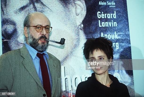 Schauspielerin F mit dem Regisseur des Films 'Mon Homme' B Blier 00001996