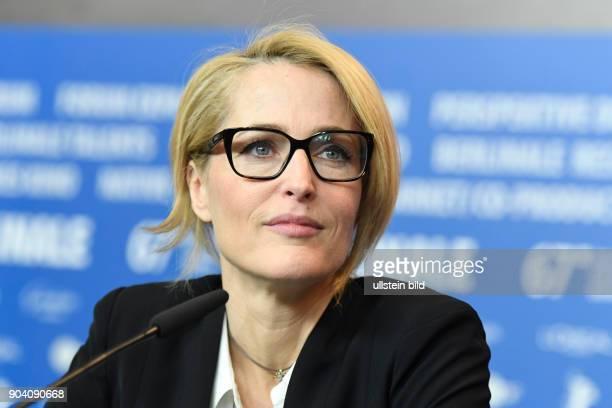 Schauspielerin Gillian Anderson bei der Pressekonferenz zum Film VICEROY´S HOUSE anlässlich der 67 Berlinale