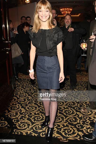 Schauspielerin Heike Makatsch Beim Medienboard Empgang Im Ritz Carlton Hotel Bei Der 59 Berlinale In Berlin