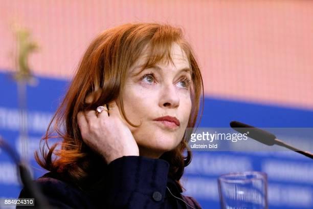 Schauspielerin Isabelle Huppert während der Pressekonferenz zum Film L'Avenir/Things To Come anlässlich der 66 Internationalen Filmfestspiele Berlin