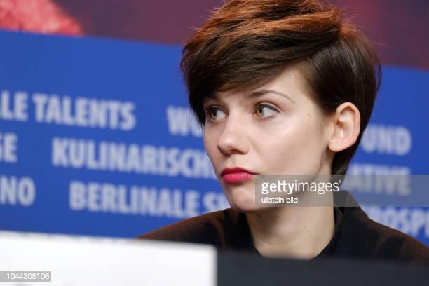 Schauspielerin Malgorzata Gorol während der Pressekonferenz zum Film TWARZ MUG anlässlich der 68 Berlinale