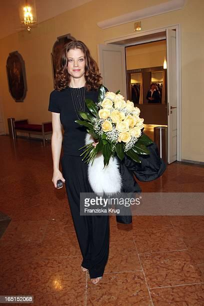 Schauspielerin Marie Bäumer Bei Der 30 Verleihung Des Bayerischen Filmpreis Im Cuvillies Theater In München Am 160109