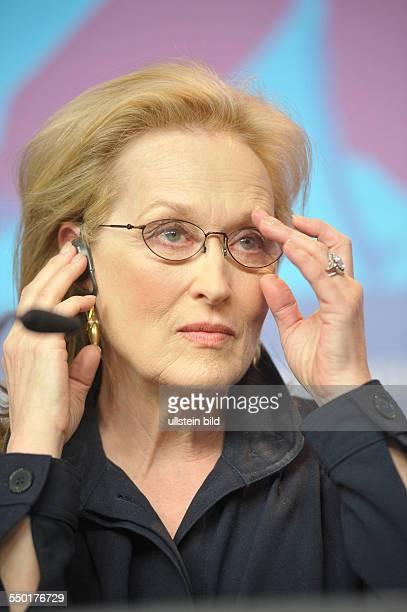 Schauspielerin Meryl Streep während der Pressekonferenz zum Film IRON LADY anlässlich der 62 Internationalen Filmfestspiele in Berlin