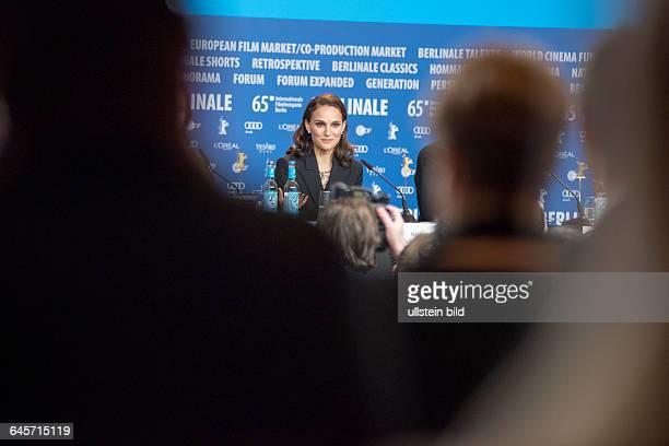 Schauspielerin Natalie Portman während der Pressekonferenz zum Film -KNIGHT OF CUPS- anlässlich der 65. Internationalen Filmfestspiele Berlin