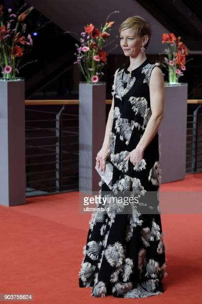 Schauspielerin Sandra Hüller anlässlich der Eröffnung der 67 Berlinale mit dem Film DJANGO