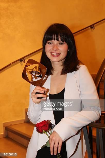 Schauspielerin Und Sängerin Anna Fischer Bei Der Grimme Preisverleihung Im Theater In Marl