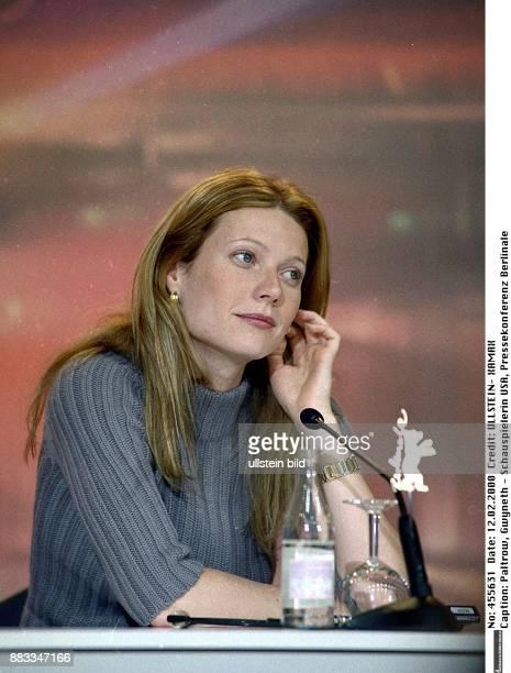 Schauspielerin USA 50 Filmfestspiele in Berlin Porträt während der Pressekonferenz zu dem Spielfilm 'Der talentierte Mr Ripley '