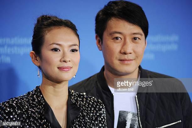 Schauspielerin Zhang Ziyi und Schauspieler Leon Lai während eines Pressetermins zum Film Forever Enthralled anlässlich der 59 Internationalen...
