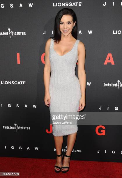 Scheana Marie attends the premiere of 'Jigsaw' at ArcLight Hollywood on October 25 2017 in Hollywood California