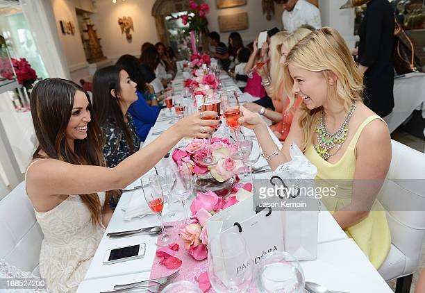 Scheana Marie Catherine Giudici and Ariana Madix attend the PANDORA jewelry Mothers Day celebration with the Vanderpumps on May 6 2013 in Beverly...