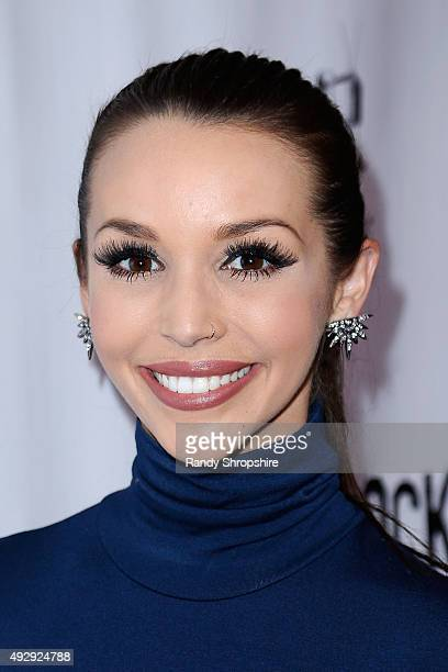 Scheana Shay arrives to the opening night of Sir Arthur Conan Doyle's 'Sherlock Holmes' at The Ricardo Montalban Theatre on October 15 2015 in...